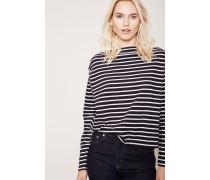 Longsleeve-Shirt gestreift 'Adrien' Blau/Weiß