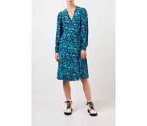 Seiden-Wickelkleid mit floralem Print Multi