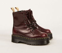 Kunstleder Plateau-Boot 'Jadon Eye Boot' Cherry Red