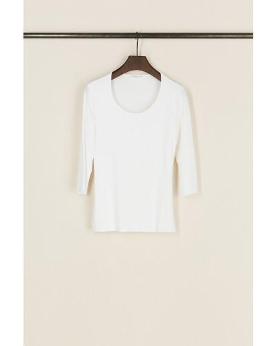 Basic-Shirt mit Rundhals-Ausschnitt Weiß