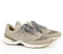 Sneaker mit glänzendem Element Taupe