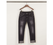 Relaxed Skinny Jeans Washed Black