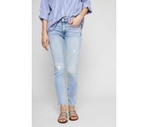 Ankle Skinny Jeans Hellblau