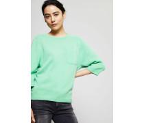 Cashmere-Pullover mit aufgesetzter Tasche Grün