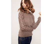 Cashmere-Pullover 'Sally' Taupe