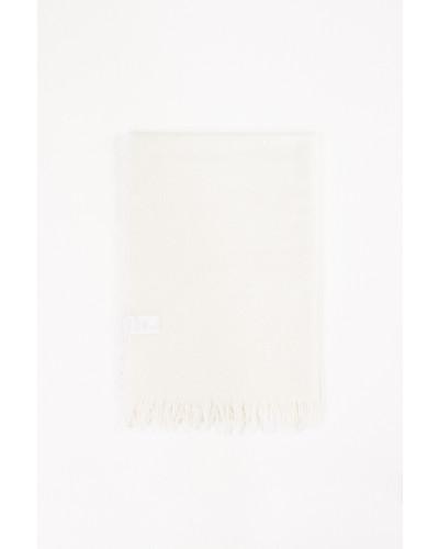 Woll-Seiden-Schal Weiß