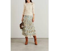 Wollpullover 'Ladybeetle' mit Rüschendetail