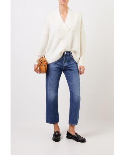 Woll-Cashmere Pullover Crème
