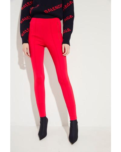 Elastische Hose mit Logo Rot