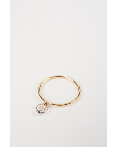 Ring 'Two In One' mit Diamant Gold