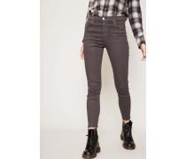 Jeans 'Alana High Rise Crop Skinny' Chrome Coated