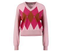 Cashmere-Pullover mit Argyle-Muster