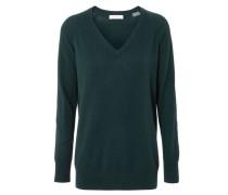 Cashmere-Pullover mit V-Ausschnitt Grün