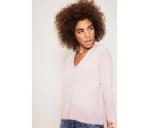 V-Neck Cashmere-Pullover Rosé