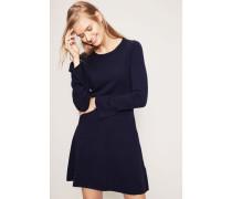 Wolle-Cashmere-Kleid Marineblau