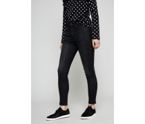 High Rise Ankle Skinny Jeans 'Black Lock' Schwarz