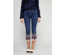 Jeans 'Mia' mit Perlenapplikationen Stonewash