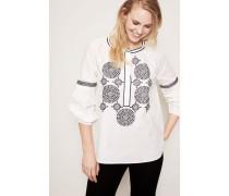 Tunika-Bluse mit Stickerei 'Aubrey' Weiß