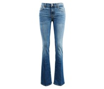 Baumwoll-Jeans 'Bootcut' Mittelblau