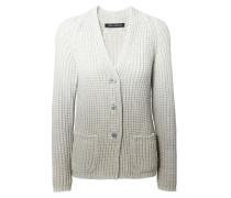 Cardigan 'Jennifer' mit Farbverlauf Weiß/Grau