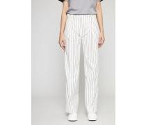 Weite Hose 'Marissa' White/Pinstripe