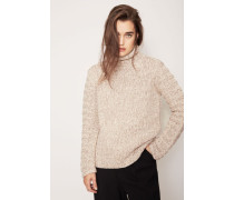 Grobstrick-Cashmere-Pullover 'Ricarda' Taupe/Natur
