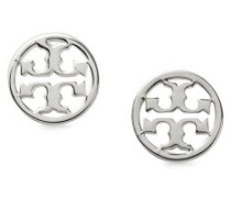 Runde Logo-Ohrstecker Silber