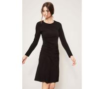Kleid mit Raffungen Schwarz