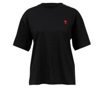 Baumwoll T-Shirt mit Logo-Detail