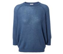 Pullover mit Struktur Blau