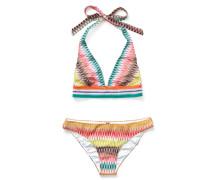Triangel-Bikini mit Zickzack-Print Multi/Multi