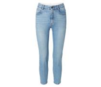 Jeans mit leichter Bügelnaht Hellblau