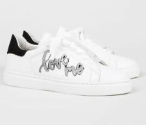 Sneaker '27 Love Street' Weiß/Silber