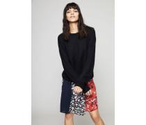 Oversized Leinen-Pullover 'Iona' Schwarz