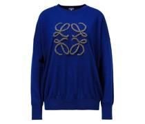 Woll-Pullover mit gesticktem Anagram