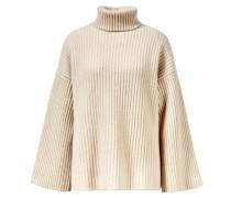 Cashmere-Pullover mit Rollkragen Crème