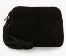Tasche mit Toddeln 'Wristlet' Schwarz