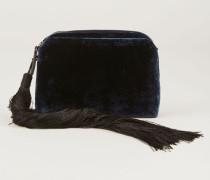 Tasche aus Samt mit Toddel Marineblau