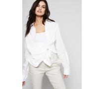 Baumwoll-Bluse 'La Chemise Bahia' Off White