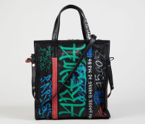 Shopper 'Bazar S' mit Graffittimuster Black Multi