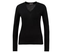 Cashmere-Seiden-Pullover mit V-Ausschnitt