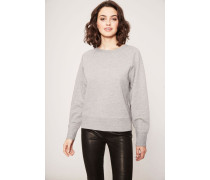 Sweatshirt mit Print 'New York' Grau