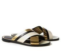 Tricolour-Sandale Gold/Crème