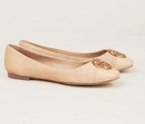 Leder-Ballerina 'Chelsea Cap-Toe Ballet' Magnolia