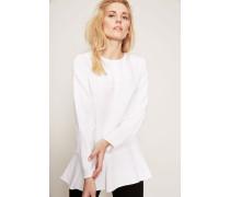 Bluse mit Volants Weiß