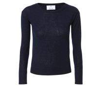 Woll-Pullover Navy