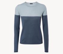 Cashmere-Pullover 'Liv' Grau/Blau