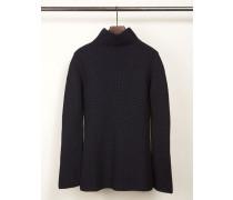 Rollkragen-Pullover Marineblau