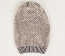Grobstrick Mütze Grau/Beige