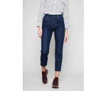 Skinny-Jeans mit Bügelfalte Dunkelblau
